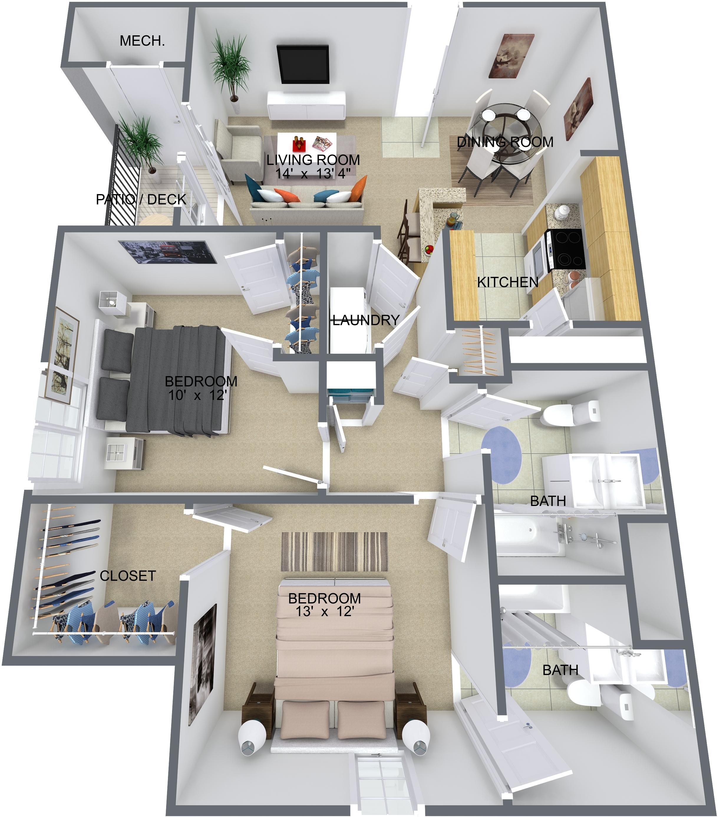 Floor Plans Forrest Landing Apartments For Rent In Newsport News Va